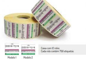 Etiqueta de 3 linhas para vapor com indicador químico Tipo 1